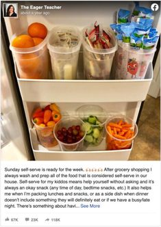 Baby Food Recipes, Snack Recipes, Healthy Recipes, Snack Hacks, Healthy Fridge, Healthy Snack Drawer, Snacks Saludables, Lunch Snacks, Snacks Kids