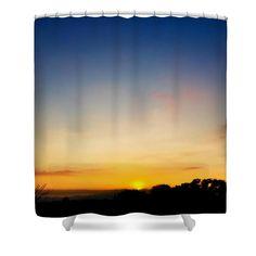 Santa Gertrudis Norte Shower Curtain by Russell Latino
