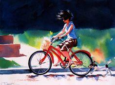 """Summer"" Fine Art Watercolor Original Painting by CrystalCookArt"