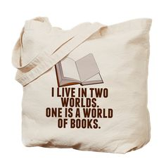Bookworm Tote Bag featuring a Rory Gilmore quote. I live in two worlds. One is a world of books. Perfect book bag to take to school or the library. #gilmoregirls