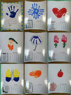 Handprint Calendar-- GREAT Parent Gift! Free Template for next year-- must save :)