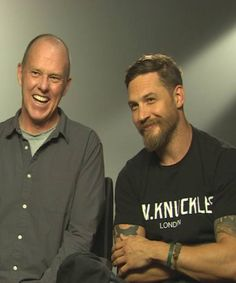 Legend   Worl Premiere (Press conference)England - September 3, 2015. Tom Hardy and Brian Helgeland being interviewed today.