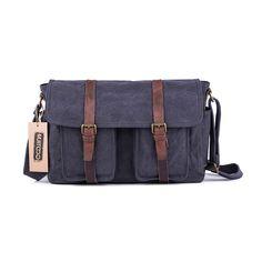 25283f13867  60301 Vintage Canvas Messenger Shoulder Bag Mens Laptop Messenger Bags