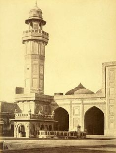 Wuzeer Khans Mosque,   From the Quadrangle. Lahore - I have pics of this same mosque!