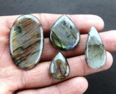 04 Pcs Labradorite Gemstone Cabochons 40x25x5 MM Oval Natural Amazing Quality Gemstone for Wirewrapping DIY Ring Pendants Jewelry Supplies http://etsy.me/2jzEB4E #supplies #purple #engagement #christmas #oval #beading #fullflashy #strongfire #semipreciousgems