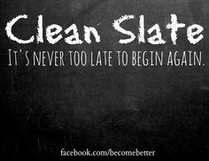 Begin again quote via www.Facebook.com/BecomeBetter