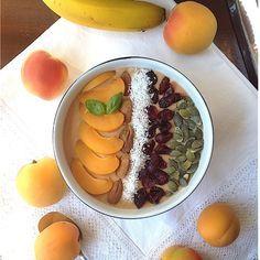 My Casual Brunch: Smoothie de alperce e banana em taça