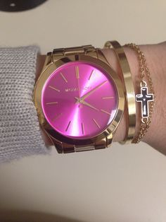 Obsessed with my new Michael Kors watch! #pink #mk
