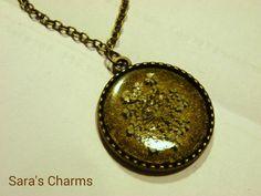 Bronzekette weiße Dillblüte 25 mm von Sara´s Charms auf DaWanda.com