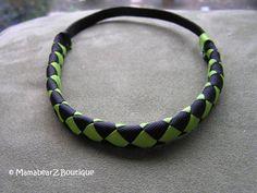 Athletic elastic headband soccer headband by MamabearzBoutique blue and white Lady Hawks