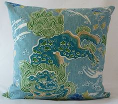 Brunschwig & Fils ShiShi dragon chinoiserie by LuxeCushions, $45.00