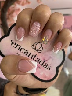Glow Nails, Polygel Nails, Nail Manicure, Cute Nails, New Nail Designs, Acrylic Nail Designs, Acrylic Nails, Light Pink Nails, Valentine Nail Art