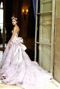 Dior   Princess Perfection purple gown