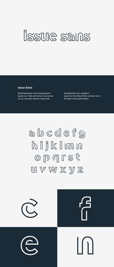 Développement d'une typographie basée sur l'idée de l'erreur de contour via un mauvais chemin emprunté.