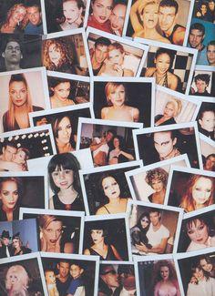 Kevyn Auocin Making Faces Polaroids collage.
