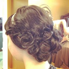 Great Gatsby themed updo. By Lauren Brown.