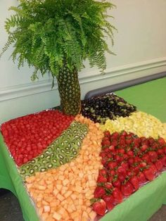 Fruit table ideas love this fruit tray event planning in trays fruit displays and display fruit . L'art Du Fruit, Deco Fruit, Fruit Art, Fresh Fruit, Fruit Salad, Watermelon Fruit, Party Trays, Party Platters, Snacks Für Party