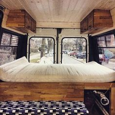 This bedroom looks fantastic! Having a van that is wide enough to sleep this way frees up so much space for living. Thanks  @nilsholle for the share #vanlifediaries to show off the ideas S.P Rad FIAT #fiat