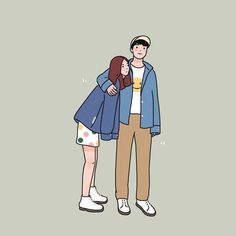 Imagine finding both love and friendship in one person. Cute Couple Comics, Cute Couple Cartoon, Cute Couple Art, Anime Love Couple, Cute Couples, Cute Couple Drawings, Anime Couples Drawings, Cute Drawings, Cartoon Art Styles
