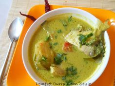 Pomfret Curry Recipe, Pomfret Curry, Pomfret Curry Goan style, Pomfret Green Curry, :Pomfrets are one of my favorite fishes. Goan Recipes, Fried Fish Recipes, Curry Recipes, Seafood Recipes, Indian Food Recipes, Cooking Recipes, Ethnic Recipes, Avocado Egg Recipes, Party