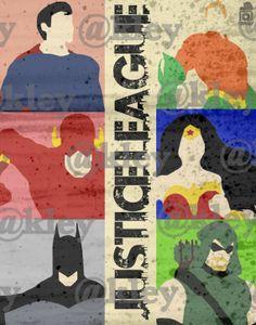 "Justice League Minimalistic Poster ""11x14"""