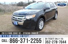 Cool Ford: 2013 Ford Edge SE - Sport Utility Vehicle - V6 3.5L Engine - Remote Keyless Entr...  SUVs Check more at http://24car.top/2017/2017/08/05/ford-2013-ford-edge-se-sport-utility-vehicle-v6-3-5l-engine-remote-keyless-entr-suvs/