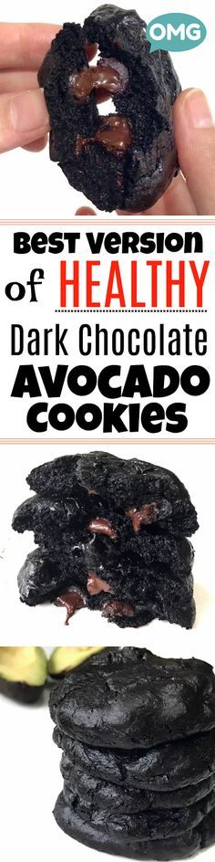 SERIOUSLY THE BEST Healthy Avocado Chocolate Chunk Cookies you can ever BAKE!!! YUMSSSSSS