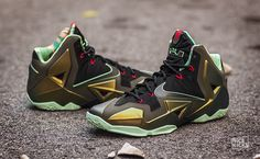"super popular dfdcc 296fc Nike LeBron 11 ""King s Pride"" Detailed Images Nike Tights, Nike Boots, Nike"