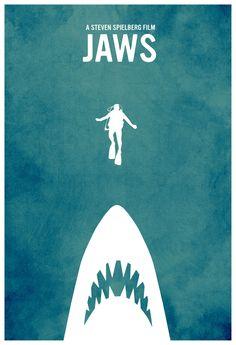 Jaws Minimalist Film Poster $27.99