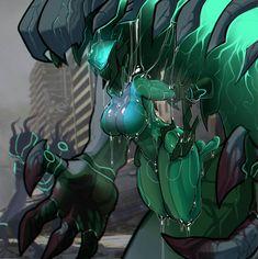 Like Sam from Danny Phantom plant monster Monster Art, Plant Monster, Warframe Art, Anime Monsters, Fanarts Anime, Cyberpunk Art, Disney Marvel, Anime Art Girl, Creature Design