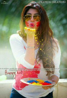 Happy holi 😘 Best Photo Poses, Girl Photo Poses, Girl Photography Poses, Girl Poses, Cute Girl Pic, Stylish Girl Pic, Cute Girls, Holi Pictures, Girl Pictures
