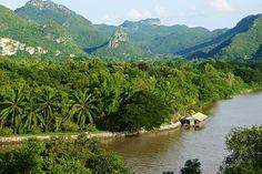 View of the River Kwae Noi from Wat Tham Khao Pun, Kanchanaburi, Thailand | Flickr - Photo Sharing!