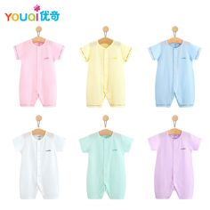 f004bfb0f12f YOUQI Summer Baby Rompers 100% Cotton Brand Baby Girls Clothes Boys Pajamas Suit  3 6