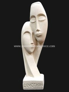Devotion ~ Souvenirs from Greece: Devotion greek cycladic art head statue Greek statues Cycladic art statues Fascinatiing greek cycladic art souvenirs handmade cycladic statue  male and female statue called Devotion. The cycladic art is a celebration of love and devotion the perfect greek art gift for loved couples the ideal anniversary gift.