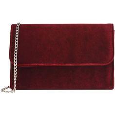 George J. Love Handbags ($40) ❤ liked on Polyvore featuring bags, handbags, maroon, red purse, handbag purse, hand bags, red bag and velvet purse
