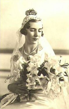Kronprinzessin Ingrid von Dänemark als Bride, Crown Princess of Denmark as bride