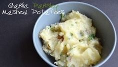 Pressure cooking potatoes means that making these real Garlic Parsley Mashed Potatoes, from Vegan Under Pressure takes just minutes.