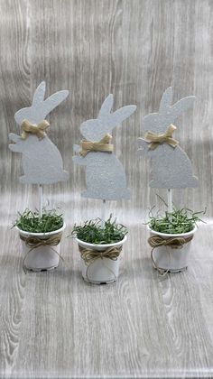Dollar Store Easter Decorations - Easy Crafts - How To Make Bunny Pots . - Dollar Store Easter Decorations – Easy Crafts – How To Make Bunny Pots – Simple Home Decorati - Diy Crafts How To Make, Easy Diy Crafts, Diy Home Crafts, Decor Crafts, Kids Crafts, Bunny Crafts, Diy Easter Decorations Home, Easy Easter Crafts, Spring Decorations