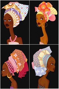 African Woman Set I by raulguerra on Etsy, €4.80