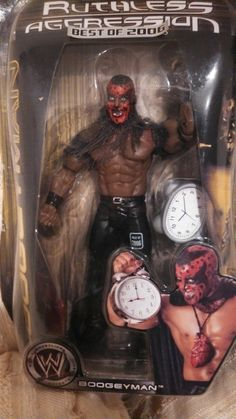 """WWE ACTION FIGURE 2006 """" BOOGEYMAN WITH CLOCK-RUTHLESS AGRRESSION-NEW"""