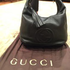 NWT Gucci Soho black leather hobo NWT Gucci black leather hobo.  Soho collection Gucci Bags Hobos