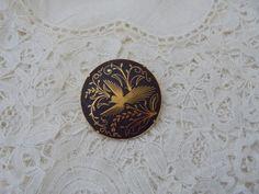 Vintage damascene brooch by Nkempantiques on Etsy