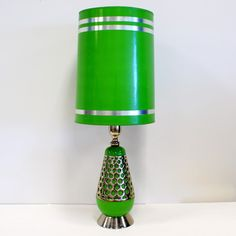 70s Table Lamp Bright Green @Kristen Lindholm. Too cute.
