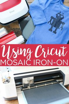 Learn how to use Cricut mosaic iron-on including the double liner feature that makes it easier to weed! You are going to love this special heat transfer vinyl and what it adds to your projects! Iron On Cricut, Iron On Vinyl, Cricut Vinyl, Diy Organization, Diy Storage, Diy For Teens, Diy For Kids, Double Liner, Easy Mosaic