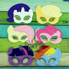 Pony Felt Mask Set Embroidery Design - 5x7 Hoop or Larger