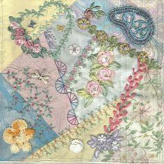 pastel crazy quilt block | Flickr - Photo Sharing!