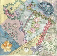 pastel crazy quilt block | Flickr - Photo Sharing!