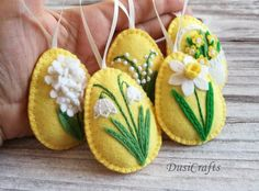 Felt Easter decor, Yellow Easter Eggs / Set of 5 Felt Easter decoration – felt eggs , Pastel Easter ornaments Pink Yellow / set of 8 – Folt Bolt Shop Easter Egg Crafts, Easter Eggs, Easter Decor, Easter Centerpiece, Bunny Crafts, Easter Table, Easter Party, Easter Gift, Easter Ideas