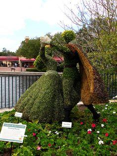 Sleeping Beauty Topiary by disneylori, via Flickr