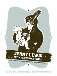 Jenny Lewis and The Watson Twins Gig Poster | 50 Amazing Gig Posters Sure to Inspire // WellMedicated